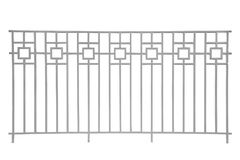 Steel railing isolated. Royalty Free Stock Photo