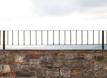 Steel Railing. Steel rail in val Orcia Royalty Free Stock Images