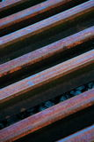 Steel rails Stock Photos