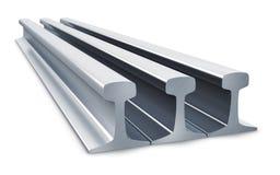 Steel rails Stock Photo
