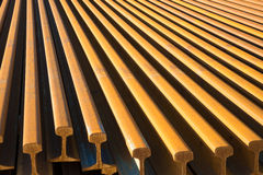 Steel rails Stock Photos