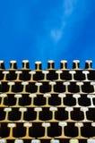 Steel rails. Royalty Free Stock Photos