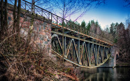 Steel railway Stock Images