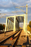 Steel railway bridge Royalty Free Stock Photography