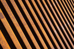 Steel Railway Lines Diagonal Stock Images