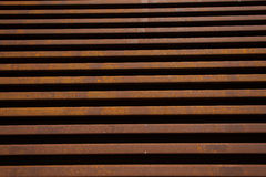 Steel Railway Lines Parallel Stacked Travel Stock Image