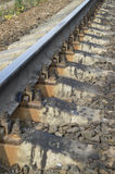 Steel railway rails Royalty Free Stock Photography