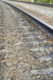 Steel railway rails Royalty Free Stock Images