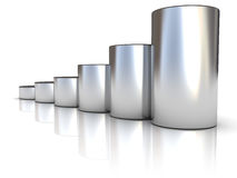Steel raising charts Royalty Free Stock Image