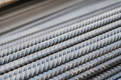 Steel re-bar. For structure building Royalty Free Stock Photography