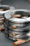 Steel reams. Rolls of hopp iron in a metal workshop Royalty Free Stock Image