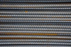 Steel rebar. Sort on the ground Royalty Free Stock Image