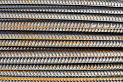 Steel Rebar Background with Construction Copyspace Stock Photos