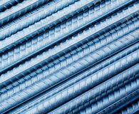 Steel rebar. Background in a construction site Royalty Free Stock Photo