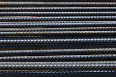 Steel rebar in a construction site in a construction site. Outdoor Royalty Free Stock Photos