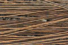 Steel rebar. Prepared for use in construction site Royalty Free Stock Photo