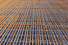 Steel Rebar for reinforced the concrete bridge Royalty Free Stock Photography