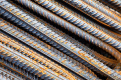Steel rebars Royalty Free Stock Images