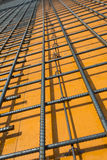 Steel rebars laid on the formwork Royalty Free Stock Image