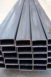 Steel rectangular tube Royalty Free Stock Photography