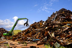 Steel recycling royalty free stock photography