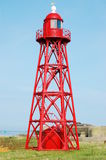 Steel Red Lighthouse Royalty Free Stock Photography