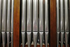 Steel reeds of various sizes for musical organ Stock Photography