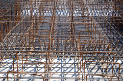 Steel reinforced rods Royalty Free Stock Image
