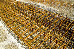 Steel reinforcement. Concrete steel reinforcement. With space for copy royalty free stock images