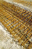 Steel reinforcement. Concrete steel reinforcement. With space for copy stock image