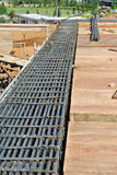 Steel reinforcement bar for beam at the construction site Stock Photography