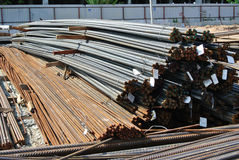 Steel reinforcement bars. Steel rods or bars used to reinforce concrete Royalty Free Stock Photos