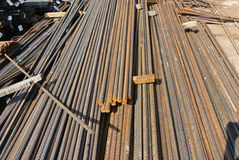 Steel reinforcement bars. Steel rods or bars used to reinforce concrete Royalty Free Stock Photography
