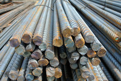 Steel reinforcement bars. Steel rods or bars used to reinforce concrete Royalty Free Stock Photo