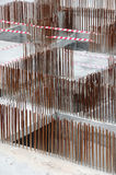 Steel reinforcement bars2. Construction site showing steel reinforcement bars Stock Photo