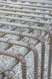 Steel reinforcement concrete. Installation binding wires to reinforcement steel bars at construction site during concrete pouring works with formwork stock photos
