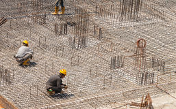Steel Reinforcement for Floor. Royalty Free Stock Photos