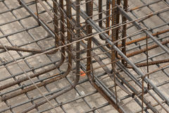 Steel reinforcement of foundation Royalty Free Stock Photography