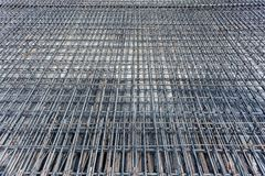 Steel reinforcements at construction site Royalty Free Stock Photos