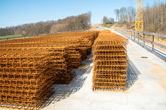 Steel reinforcing bars Stock Photo