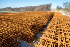 Steel reinforcing bars Royalty Free Stock Images