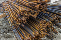 Steel reinforcing bars for reinforcing concrete Royalty Free Stock Photo