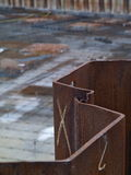 Steel retaining wall Royalty Free Stock Photography
