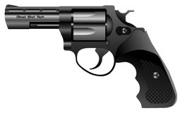Steel revolver vector Royalty Free Stock Photography