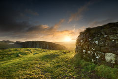 Steel Rigg At Sunrise Royalty Free Stock Images