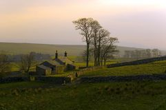 Steel Rigg, Hadrians Wall. At sunset Stock Photos