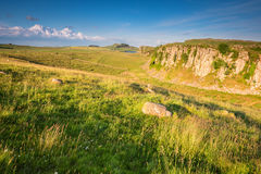 Steel Rigg and Peel Crags Stock Photos