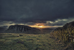 Steel Rigg Sunrise Stock Image