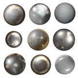 Steel rivet heads Stock Photography