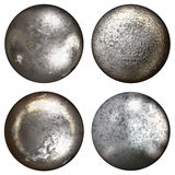 Steel rivet heads Stock Photo